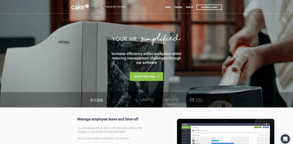 cake hr best employee scheduling software